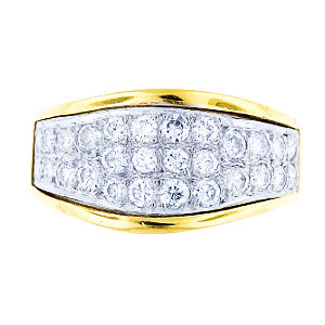 14K Yellow Gold 112 Carat Diamond Band