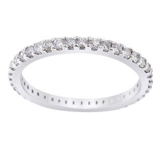 14K White Gold Eternity Diamond Band 1.5MM Sizes 3.5-10 Available