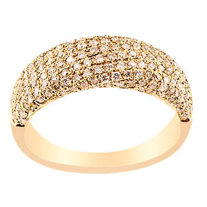 18K Rose Gold Pave Setting Diamond Band