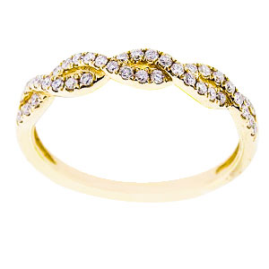 SJ1000Inifnity - 14K Yellow Gold Infinity Diamond Band 3MM