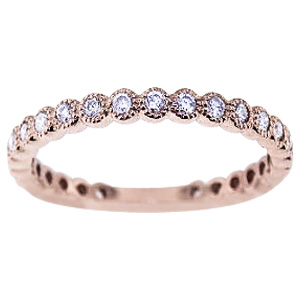 SJ1108TCB - 14K Rose Gold Diamond Bezel Set 3/4 Eternity Band
