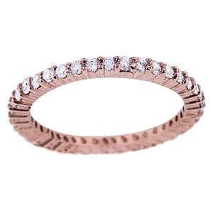 SJ1340RGEB - 14K Rose Gold Diamond Eternity Band