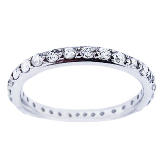 14K White Gold Eternity Diamond Band 25MM Sizes 3510 Available