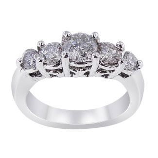 1.06 Carats 5 Stone Diamond Engagement Ring