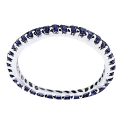 SJ705EBSR - 14K Full Eternity Natural Blue Sapphire 107 Carats Band