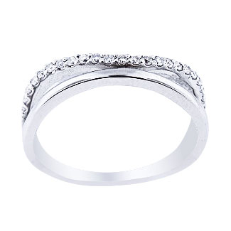14K White Gold Diamond Knuckle Band