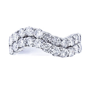 14K White Gold 196 Carat Round Brilliant Diamond Band