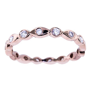 SJ984RGEB - 14K Rose Gold Diamond Eternity Band